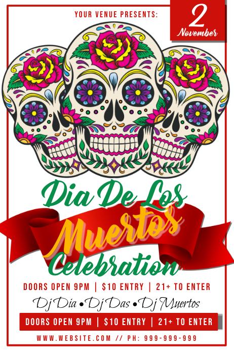 Dia De Muertos Poster 海报 template