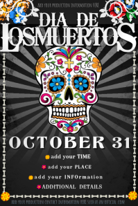 Dia Muertos Day Dead Event Party Halloween Costume Fall