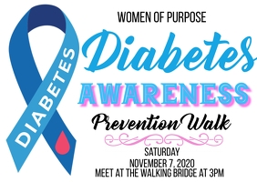 diabetes awareness prevention walk Postcard template