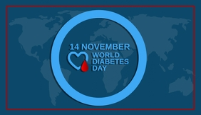 Diabetes day,world diabetes day Header Blog template