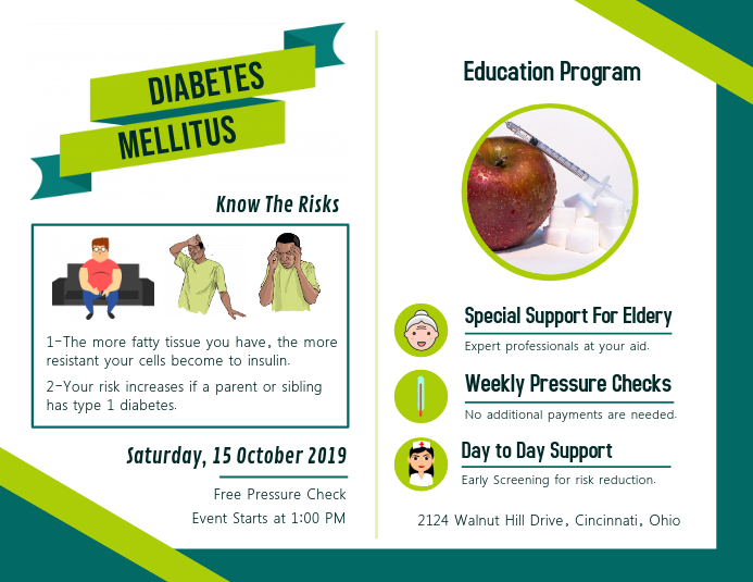 copy of diabetes education program leaflet template