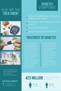 Diabetes Informative Poster Template