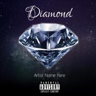 Diamond Album Cover Ikhava ye-Albhamu template