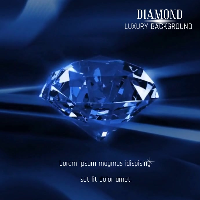 DIAMOND BACKGROUND VIDEO AD