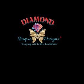 Diamond Butterfly Logo Design template