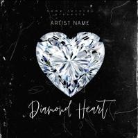 Diamond Heart Album Cover Art Template Albumcover