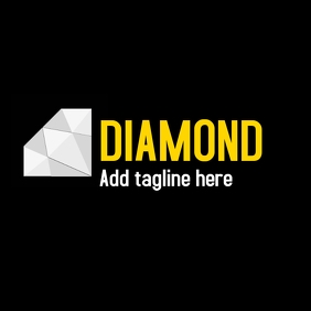 Diamond logo black background