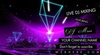 Diamond Neon Live DJ Channel Banner Video Omslagfoto YouTube-kanaal template