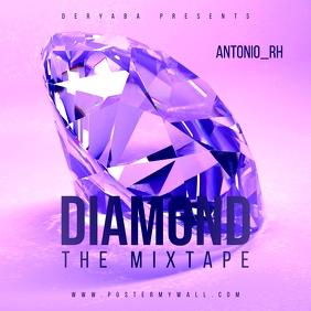 Diamond Pink Purple Mixtape Music CD Cover template