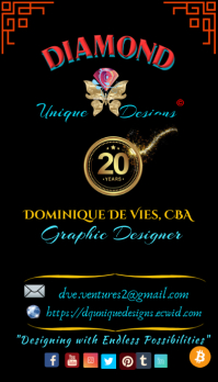 Diamond Q Business Card Design template
