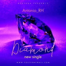 Diamond The Mixtape CD Cover template