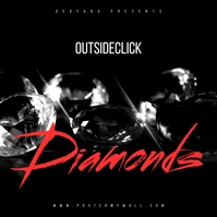 Diamonds Red Music CD Cover template