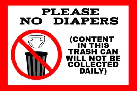 diaper diapers garbage can - Waste container