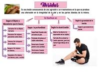Diapositiva de Heridas, tipos y clasificacion Flyer (format US Letter) template