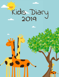 "Diary cover template ""kids diary 2019"""