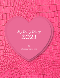"""Diary cover template """"My Daily dairy 2021"""" Flyer (Letter pang-US)"""