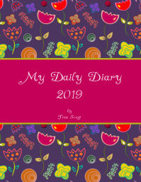 Diary cover template
