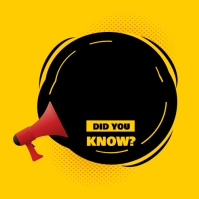 Did You Know Question? Сообщение Instagram template