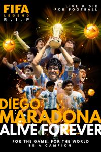 Diego Maradona R.I.P Poster Template