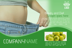 diet and healthy lifestyle multipurpose green landscape flyer template