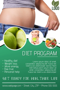 diet fitness flyer template
