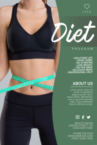 diet program weight loss fitness flyer template postermywall