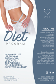 diet program weight loss flyer template