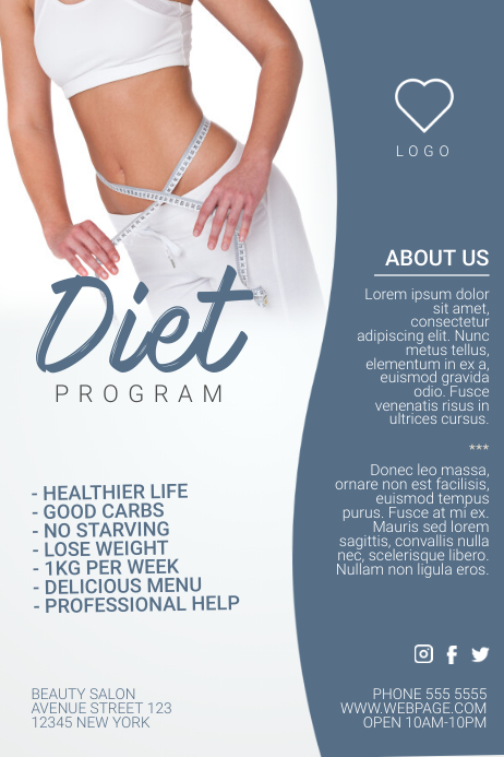 copy of diet program weight loss flyer template