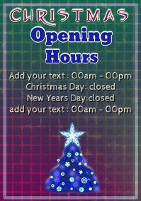 different colors christmas opening hours