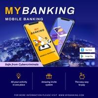 Digital Banking Online Advertisement Publicación de Instagram template