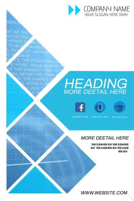 digital banner display video design template Poster