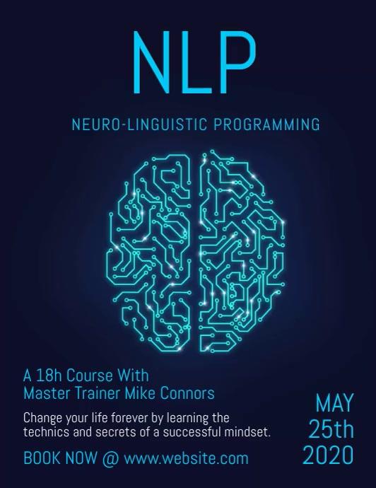Digital Brain NLP video flyer Pamflet (VSA Brief) template