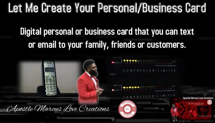 Digital Business Card template