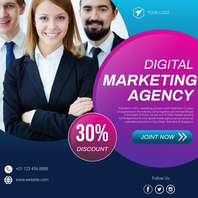 Digital business marketing social media banne Instagram Post template