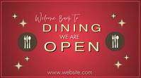 Digital Dining Ad Digitale display (16:9) template