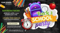 digital display back to school party template