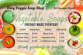 digital display menu for soups template
