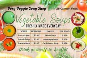 digital display menu for soups template