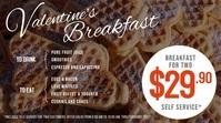 Digital Display Menu for Valentine breakfast template