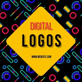 digital gaming logo logos SOCIAL MEDIA Kwadrat (1:1) template