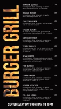 Digital Grill Burger Bar Menu Template