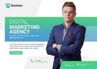 Digital Marketing Agency Ad Pocztówka template