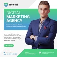 Digital Marketing Agency Ad Сообщение Instagram template