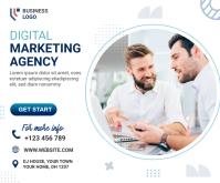 Digital Marketing Agency Ad 中型广告 template