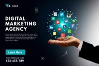 Digital Marketing Agency Ad Banner 4' × 6' template