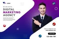 Digital Marketing Agency Ad Баннер 4' × 6' template