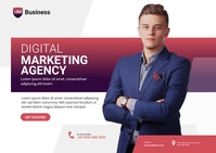 Digital Marketing Agency Ad ไปรษณียบัตร template
