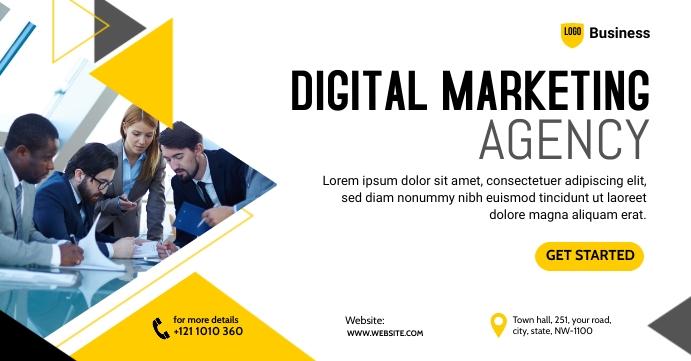 Digital Marketing Agency Banner Sampul Acara Facebook template