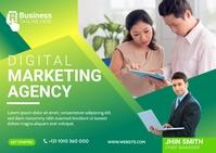 Digital Marketing Agency Banner Postal template