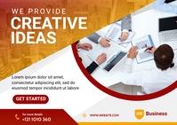 Digital Marketing Agency banner Postcard template